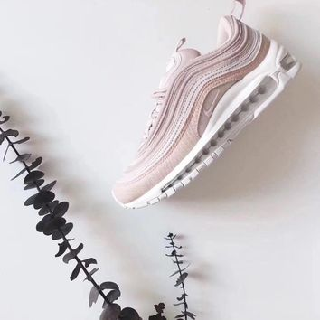 nike air max97 pink women running sport casual shoes sneakers