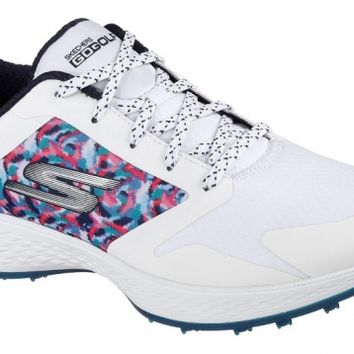 Skechers Ladies Go Golf Eagle Major Shoes - White/Navy