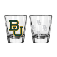 Boelter 2 ounce Satin Etch Shot Glass NCAA Baylor Bears