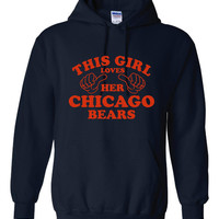 This Girl Loves The Chicago BEARS Cool Football Gift For Chicago Bears Fans Navy Hoodie CHICAGO Bears Football HOODIE