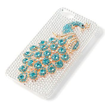 Bling Peacock iPhone 5 Cover    Claire's