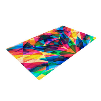 "Danny Ivan ""Day We Met"" Rainbow Geometric Woven Area Rug"