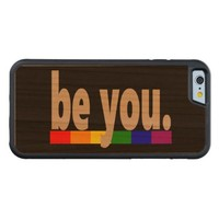 be you Gay Pride Rainbow Flag Carved® Cherry iPhone 6 Bumper