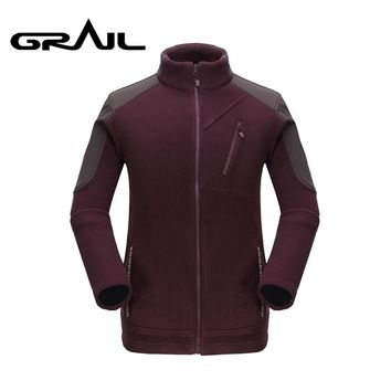 GRAIL Brand Clothing Coat Men Thicken Warm Polar Fleece Jacket Polartec Men's Jacket and Coats Windbreaker Outwear5327A