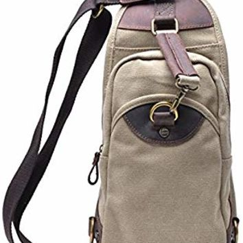 Gootium Canvas Sling Bag - Chest Pack Shoulder Backpack