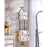 Bronze Metal Hanging Towel / Wine Rack | Kirkland's