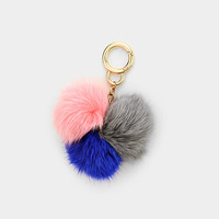 Pom Pom Trio Key Chain Bag Charm