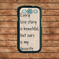 Our Story--Samsung Galaxy S3 case ,in plastic hard case,black or white or clear color