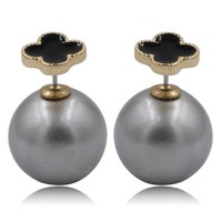 Mise en Dior Style Tribal v.s Van Cleef Earrings - Black & Metallic Silver