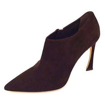 DCCK7J3 Dior Christian Songe Women's Dark Brown Suede Size 40 Ankle Booties