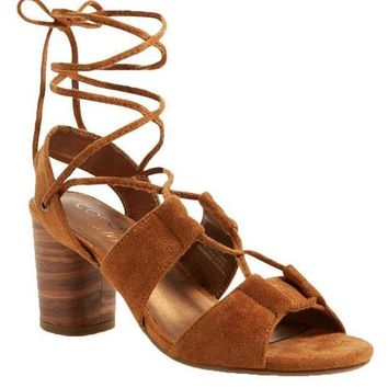 ICIKAB3 Coconuts by Matisse City Saddle Ankle Wrap Heels