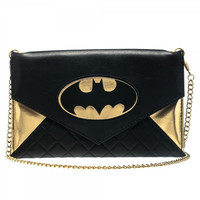 Batman Logo Envelope Wallet (Gold)