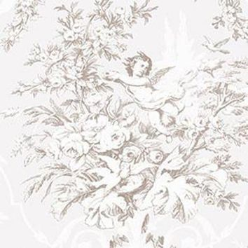 Fabric Toile, Pearl, Light Taupe Patton CH28310