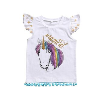 New Sisters Match Clothes Cute Toddler Kids Girls T-shirt Horse Print Baby Little Sister Bodysuit Romper Outfits Clothing