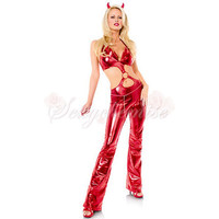 Leather Catsuit Adult Cartoon Costumes With Open Back Red [TQL120321078] - £22.59 :