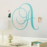 Cursive Letter Monogram Decal