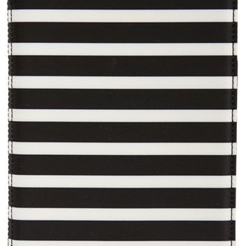 kate spade new york 'classic nylon stripe' iPad Mini folio case - Black