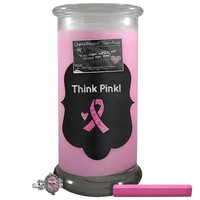 Think Pink! | Chalkboard Candle