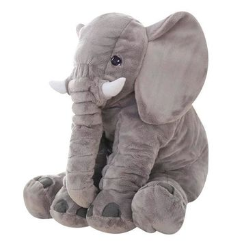 ICIKL3Z Gray 65cm Height Large Plush Elephant Doll Toy Kids Sleeping Back Cushion Cute Stuffed Elephant Baby Accompany Doll Xmas Gift