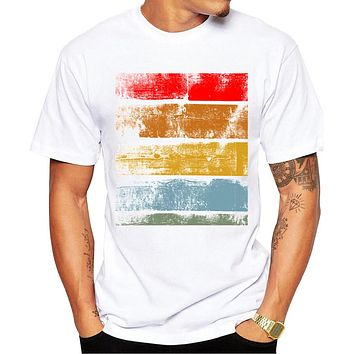 Abstract Color Block Tee
