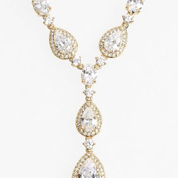 Women's Nadri Cubic Zirconia Y-Necklace