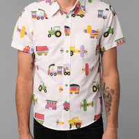Urban Outfitters - Urban Renewal Short-Sleeve Sheet Shirt