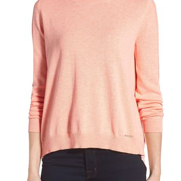 Ivanka Trump Button Back Inset Sweater | Nordstrom