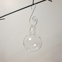 Clear Glass Ornament - Hand Blown - Free Shipping in US