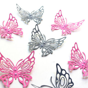 Butterflies, 3d Wall Art, Living Room Art, Home decor, Art, Paper Butterflies, Nursery, Baby Shower, Kids, Wedding, Butterfly Wall, Girls