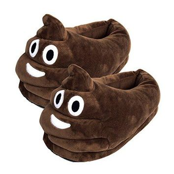 Fredhome Cute Unisex Emoji Slippers Winter Warm Indoor Home Plush Shoes