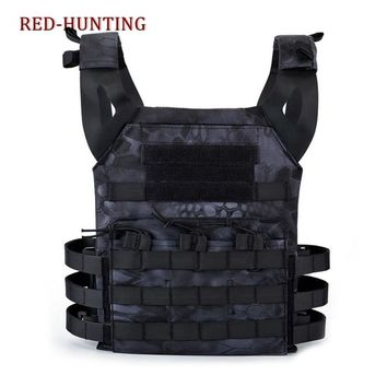 Hunting Tactical 1000D Body Armor JPC Plate Carrier Vest Typhone Black Chest Rig Airsoft Paintball Gear Loading Bear Vests