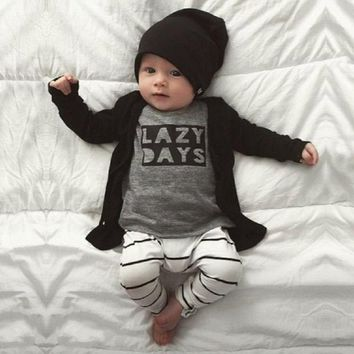 JY-129 2018 Autumn baby clothes baby boy clothes set cotton long-sleeved T-shirt+ pants write a newborn baby girl's clothing set