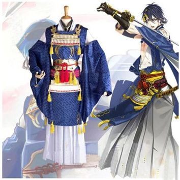 Touken Ranbu Online Mikazuki Munechika Cosplay Costume Warrior Anime Clothes Halloween Costumes For Women Kimono Suit With Armor