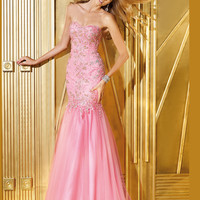 Sweetheart Beaded Lace Form Fitted Mermaid Prom Dress By Alyce Paris 6242