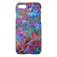 iPhone 7 Case Floral Abstract Stained Glass
