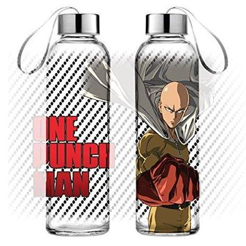 32oz One Punch Man OFFICIAL Sports and Fitness Training Water Bottle GIFT (BPA-Free)