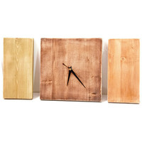Modern Wall Clock, Wooden Natural, Minimal decor
