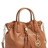 Women's MICHAEL Michael Kors 'Large' Leather Drawstring Satchel