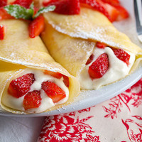 Strawberry White Chocolate Mousse Crepes | Evil Shenanigans - Baking & Cooking Blog