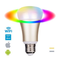 Smart Remote Control WiFi Smart Bulb Work with echo Alexa Googlehome RGB Color E26 E27 Home Automation Lighting Bulb SEC01