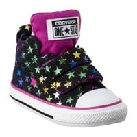 Toddler Girl's Converse® One Star® Stars Hightop Sneaker - Black