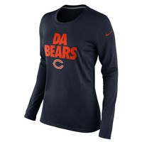 Nike Chicago Bears Ladies Da Bears Local Long Sleeve T-Shirt - Navy Blue