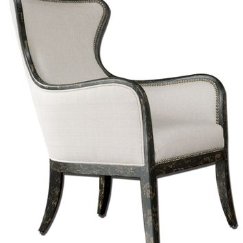 Sandy Wing Back Armchair by Uttermost