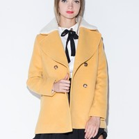 70's Peacoat with Detachable Collar