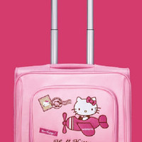 """Sanrio Hello Kitty Watsons Limited 18"""" Pink Board Chassis Roller Baggage Travel Bag Trunk"""