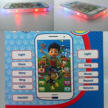 DCCKIX3 Paw patrol style Kid Toy  phone Educational English Language learning machine toy mobile phone multi story  baby phone with Colorful light = 1945875908