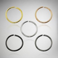 Hoop Nose Ring 5 Pack - 20 Gauge - Spencer's