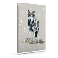 "Monika Strigel ""Wolf"" Outdoor Canvas Wall Art"