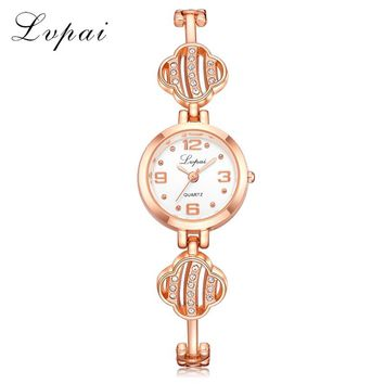 Lvpai Top Brand New Arrival Fashion Casual Women Watches Luxury Wristwatch Ladies Diamond Creative Female Quartz Watch LP210