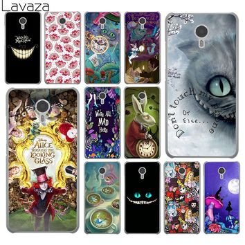 Lavaza Alice in Wonderland cat Hard Phone Shll Case for Meizu M6S M3 M3S M5 Mini M6 Note M5S M5C Back Cover